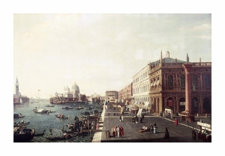 "Bernardo Bellotto Fine Art Open Edition Giclée:""View of Molo in Venice #1"""