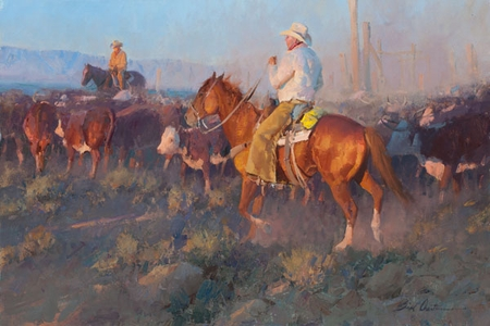 """Bill Anton Hand Signed and Numbered Limited Edition Giclee on Canvas and Paper: """"The Last Bit of Sun"""""""