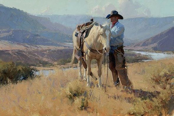 "Bill Anton Hand Signed and Numbered Limited Edition Giclee on Canvas:""New Mexico Morning"""
