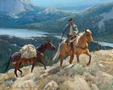 """Bill Anton Hand Signed and Numbered Limited Edition Giclee: """"Over the Pass """""""