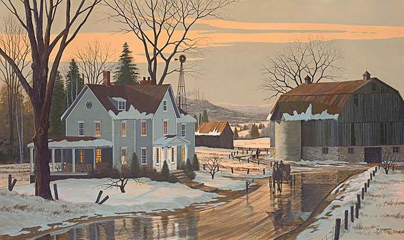 """Bill Saunders Handsigned and Numbered Limited Edition Giclee on Canvas :""""Afternoon Glow"""""""