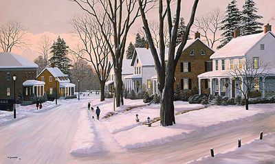 """Bill Saunders Handsigned and Numbered Limited Edition Giclee on Canvas :""""Holiday Memories"""""""