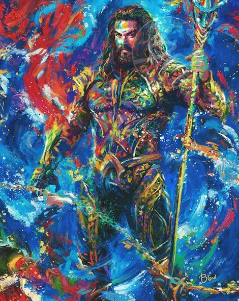 "Blend Cota limited edition giclée on canvas:""Aquaman"""