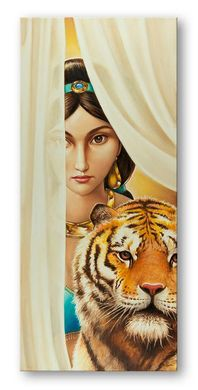 """Edson Campos Limited Edition Hand Embellished Canvas Giclee """"Sultan's Daughter, The"""""""