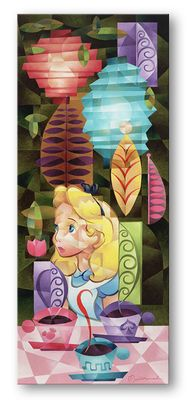 """Tom Matousek Hand Embellished Limited Edition Gallery Wrap Canvas:""""Tea for Three"""""""