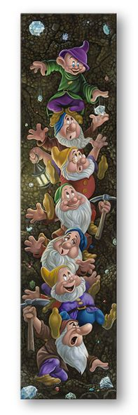 """Jared Franco Artist Signed Hand Embellished Limited Ed Canvas Giclee:""""Climbin' for Diamonds"""""""