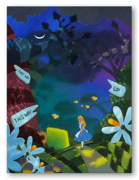 """Michael Provenza Hand Signed and Numbered Limited Edition Embellished Canvas Giclee:""""Curiouser"""""""