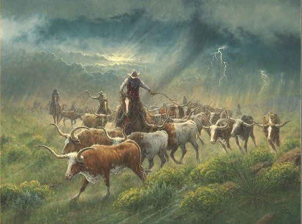 """Jack Terry Artist Hand Signed 36x48 Canvas Giclee:""""Twister"""""""