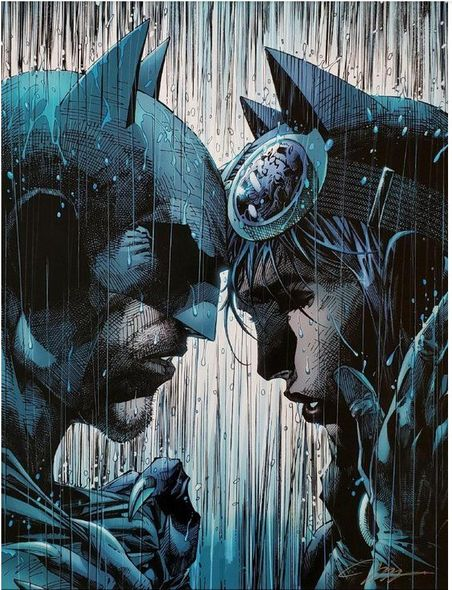 "Jim Lee Artist Signed Limited Edition Giclee Print:""Bring on the Rain (Batman Catwoman Wedding Cover)"""