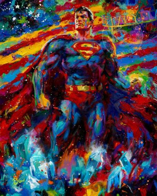"Blend Cota limited edition giclée on canvas:""Superman - Son of Krypton"""