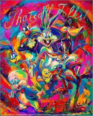 "Blend Cota limited edition giclée on canvas:""That's All Folks!"""