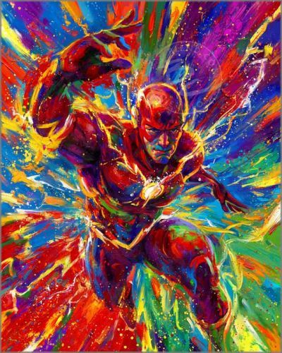 """Blend Cota limited edition giclée on canvas:""""The Flash"""""""