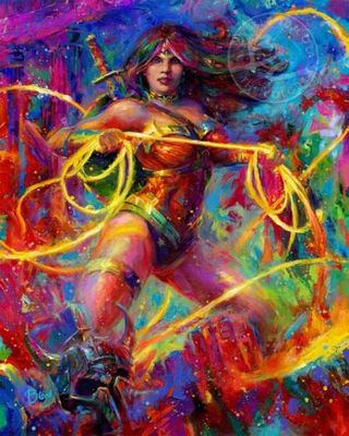 "Blend Cota limited edition giclée on canvas:""Wonder Woman - Themyscira's Champion"""