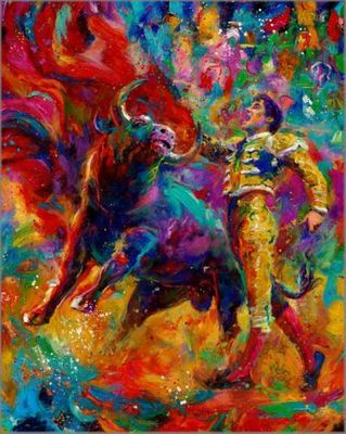 """Blend Cota limited edition giclée on paper:""""Bull Fighter, The"""""""