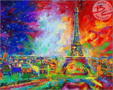 "Blend Cota limited edition giclée on paper:""Eiffel Tower"""