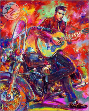 "Blend Cota limited edition giclée on paper:""King of Rock 'n' Roll, The"""