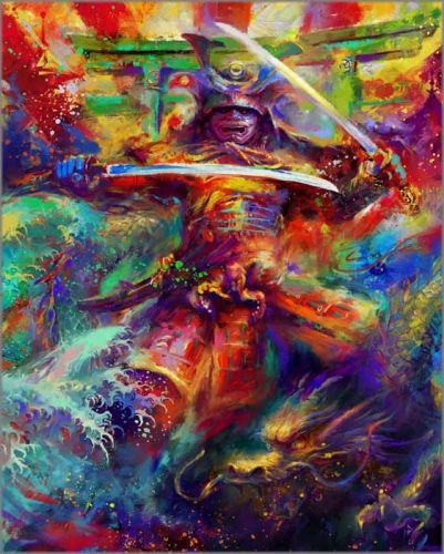 "Blend Cota limited edition giclée on paper:""Samurai Warrior"""