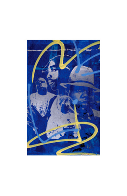 """Bobby Hill Limited Edition Pencil Signed Artist's Proof Giclee:""""Biggie & Tupac"""""""