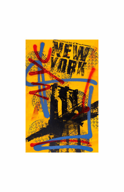"""Bobby Hill Limited Edition Pencil Signed Artist's Proof Giclee:""""NYC Yellow II"""""""