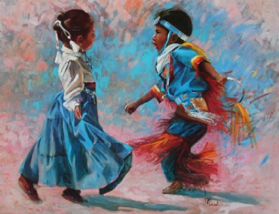 "Bonnie Conrad Hand Signed and Numbered Limited Edition Lithograph On Paper ""Dancers"""