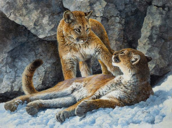 "Bonnie Marris Artist Signed Limited Edition Canvas Giclee:""Dangerous Liaisons"""