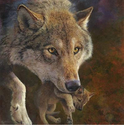 """Bonnie Marris Hand Signed Limited Edition Canvas Giclee:""""Moving Day"""""""