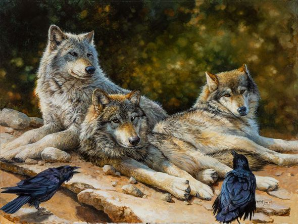 """Bonnie Marris Artist Signed Limited Edition Canvas Giclee:""""The Public Forum"""""""
