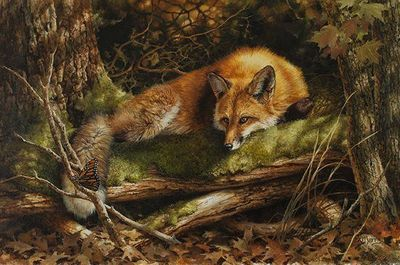 """Bonnie Marris Artist Signed Limited Edition Canvas Giclee:""""Farewell to Summer"""""""