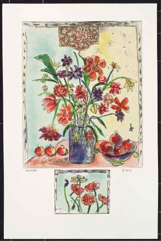 """Bracha Guy Limited Edition Serigraph:""""The Heart Flower"""""""