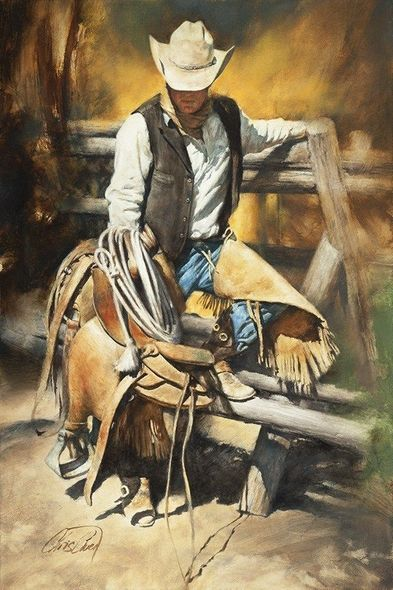"Chris Owen Hand Signed and Numbered Limited Edition Giclee:""Call of the Trail"""