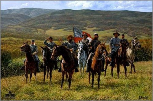 "Bradley Schmehl limited edition print on canvas:""Reconnaissance at McDowell - The Valley Campaign"""