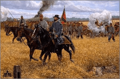 "Bradley Schmehl limited edition print on canvas:""We Gained Northing but Glory - Gettysburg"""