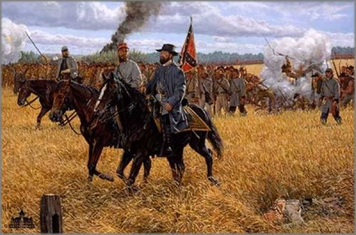 """Bradley Schmehl limited edition print on paper:""""We Gained Northing but Glory - Gettysburg"""""""