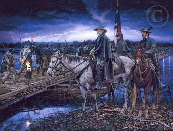 "John Paul Strain Hand Signed and Numbered Limited Edition Giclee:""The Last Crossing"""