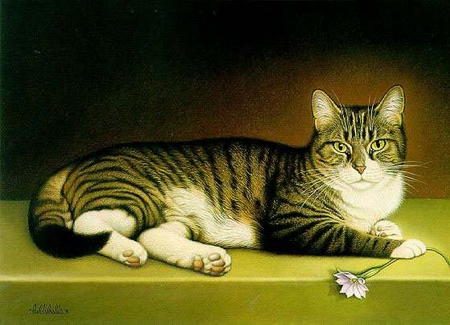 "Braldt Bralds Limited Edition Print:""Miss Kitty"""