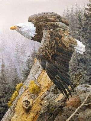 """Carl Brenders Artist Signed Numbered Limited Edition Canvas Giclee:""""America on the Rise"""""""
