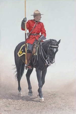 """Brent Townsend Hand Signed and Numbered Limited Edition Giclee on Paper :"""" RCMP Rider """""""