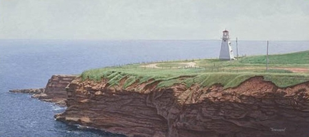 """Brent Townsend Hand Signed and Numbered Limited Edition Giclee on Paper :"""" Tryon Lighthouse """""""