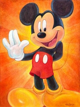 """Bret Iwan Signed and Numbered Giclée on Canvas: """"Hi, I'm Mickey Mouse"""""""