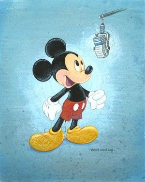 """Bret Iwan Signed and Numbered Giclée on Canvas: """"Talks Like a Mouse"""""""