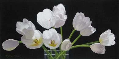 "Brian Davis Handsigned and Numbered Limited Edition Canvas Giclee :""Twelve Tulips"""
