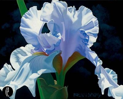 """Brian Davis Handsigned and Numbered Limited Edition Giclee on Canvas:""""Sky Blue Lilac"""""""