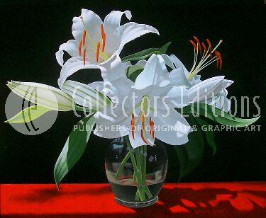 """Brian Davis Limited Edition Giclee on Canvas :""""White Lilles in Soho """""""