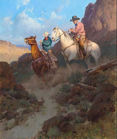 "Bill Anton Hand Signed and Numbered Limited Edition Giclee on Canvas:""Road Hazard"""