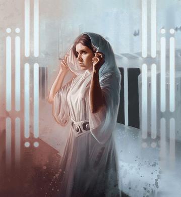 "Brian Rood Star Wars Limited Edition Art: ""The Princess - Leia"""