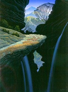 """Bruce Ricker Handsigned and Numbered Limited Edition Serigraph:""""Canyon Rock"""""""