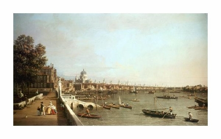 """Canaletto Fine Art Open Edition Giclée:""""London from Somerset House"""""""