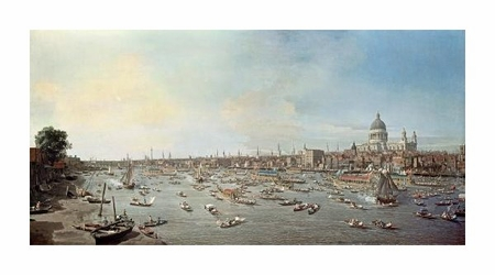 """Canaletto Fine Art Open Edition Giclée:""""London & the Thames"""""""