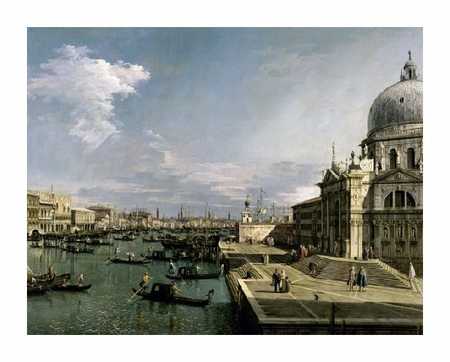 "Canaletto Fine Art Open Edition Giclée:""Venice, Church of the Blessed Sacrament"""