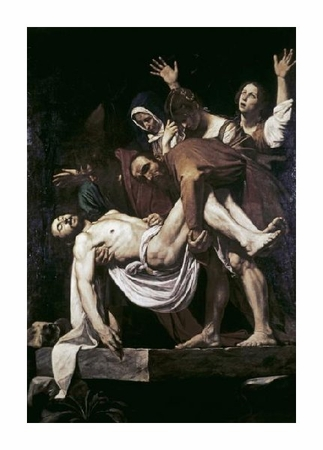 "Caravaggio Fine Art Open Edition Giclée:""Deposition"""